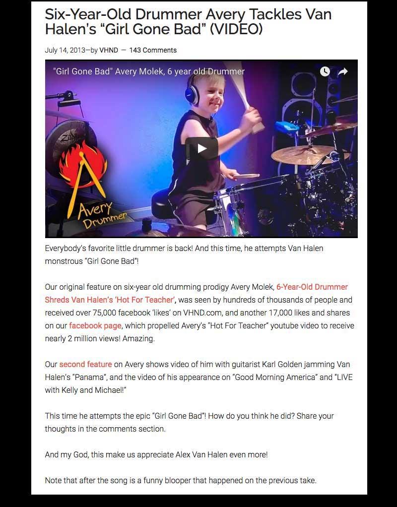 van halen hot for teacher drum sheet music